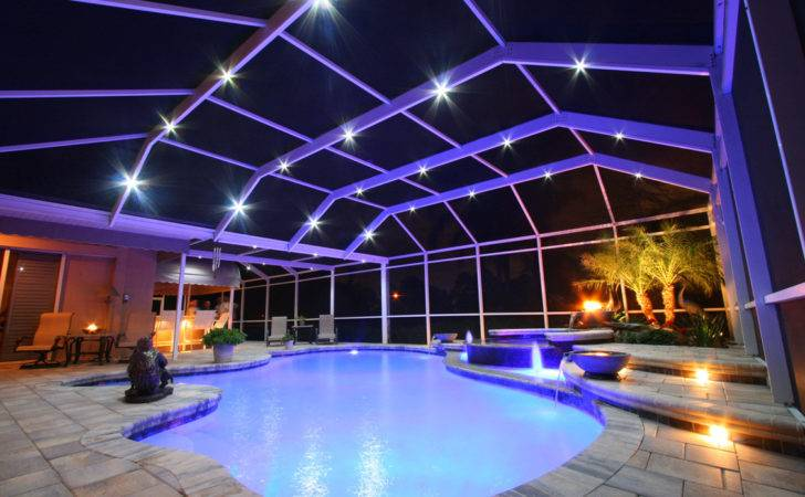 Pool Roof Sun Protection Ideas Modern Patio Cage Lighting Besha