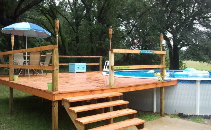 Pool Round Deck Plans Delectable Backyard Decoration