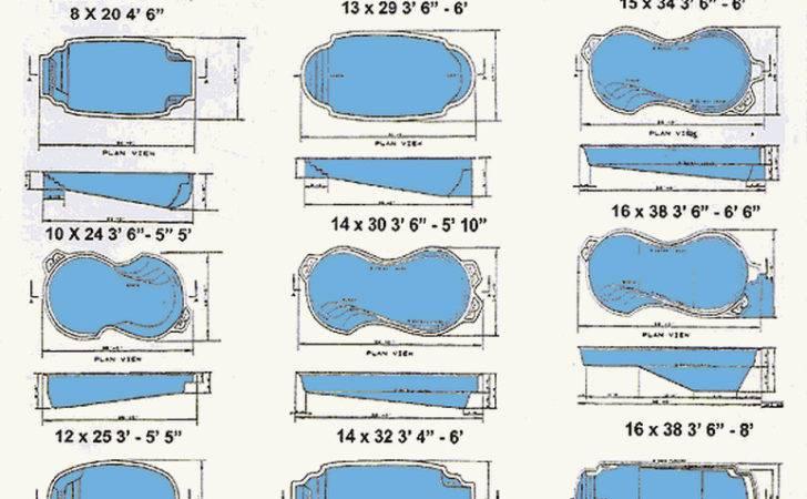 Pool Sizes Pics Photos Ground Fiberglass Shapes