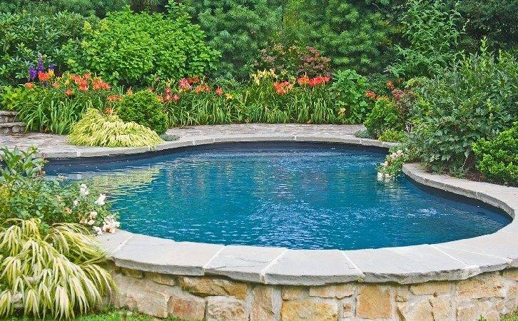 Pool Stone Trim Landscaping Pinterest