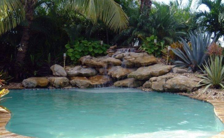 Pool Water Falls Custom Waterfalls South Florida Swimming
