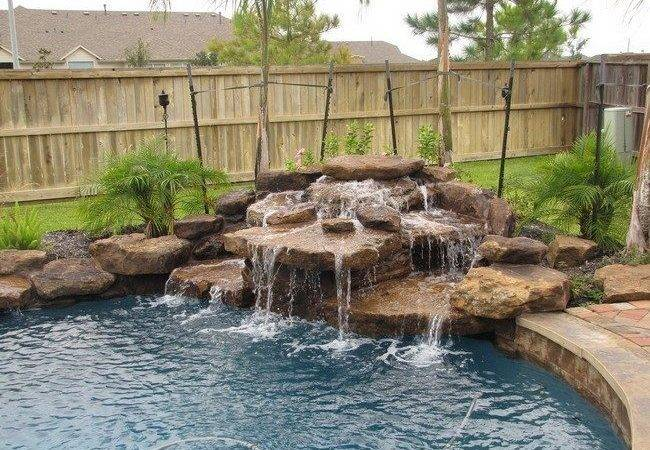 Pool Waterfall Ideas Can Recreate Your Backyard Decor Around