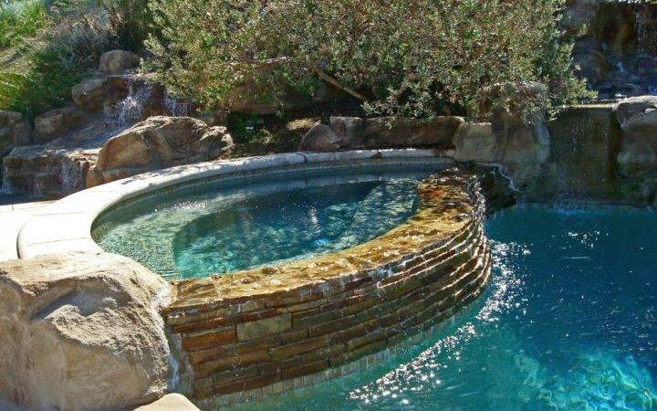 Pool Waterfall Ideas Rustic Stone Wall