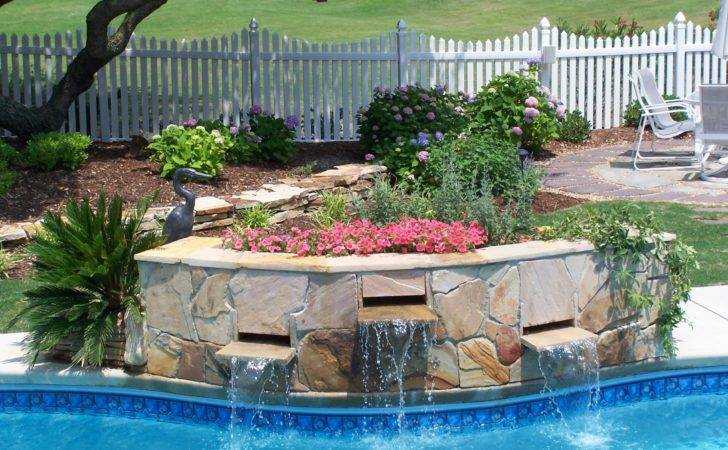Pool Waterfall Planter Ideas Pinterest