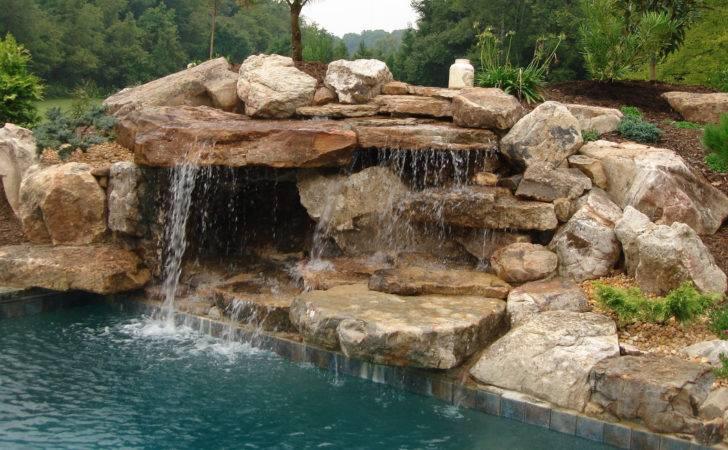 Pool Waterfall Water Falls Custom Waterfalls South Florida