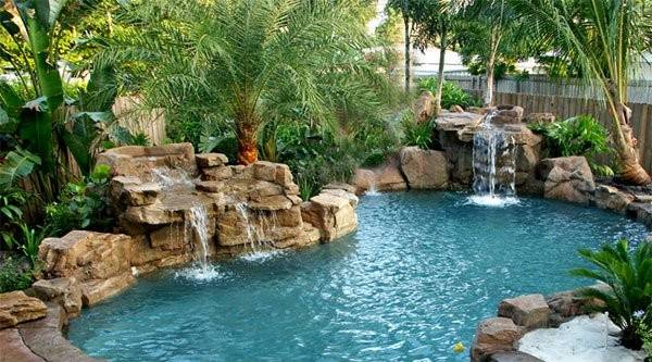 Pool Waterfalls Ideas Your Outdoor Space Home Design Lover
