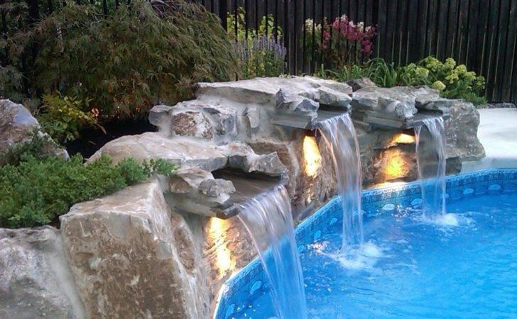 Pool Waterfalls Inground