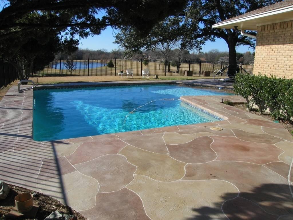 Pools Patios Designs Stamped Concrete Pool Patio Ideas