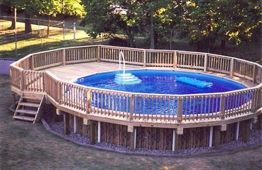 Pools Pool Decks Pinterest Ground Decking Fence