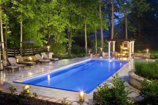 Pools Pool House Rectangle Inground Swimming Ideas