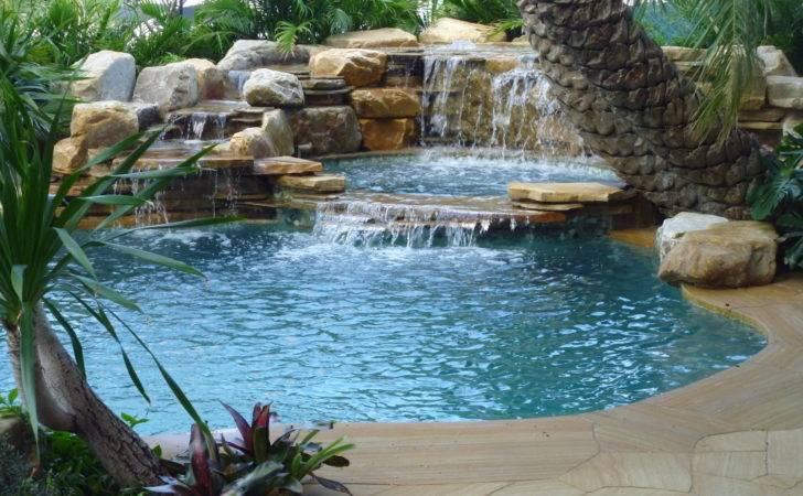 Pools Spas Pinterest Tropical Pool Waterfall