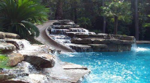 Pools Swimming Pool Unique Swim Rocks Waterfall