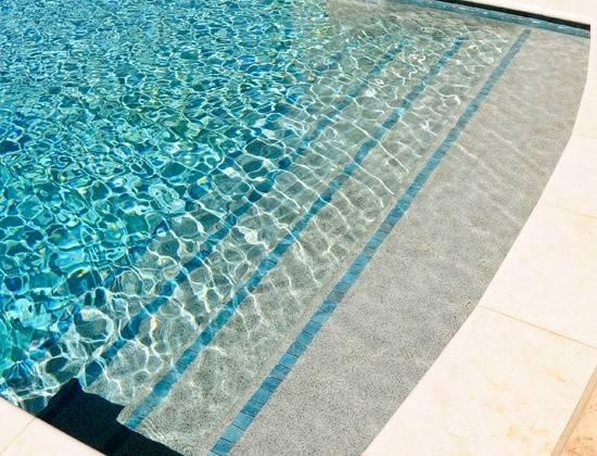 Pools Trim Tile Steps Residential Swimming Pool