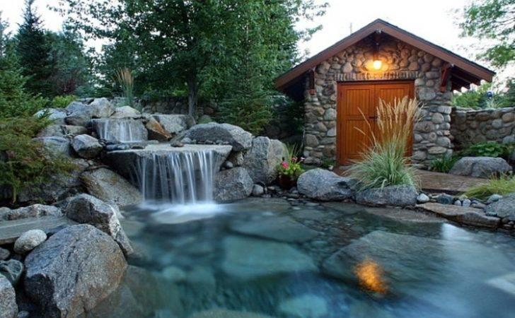 Pools Waterfall Designs Natural Looking Pool Ideas