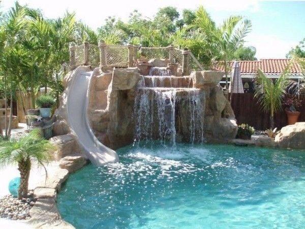 Pools Waterfalls Design Ideas Backyard Pool Ground