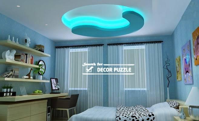 Pop Designs Bedroom Roof False Ceiling Led Lights