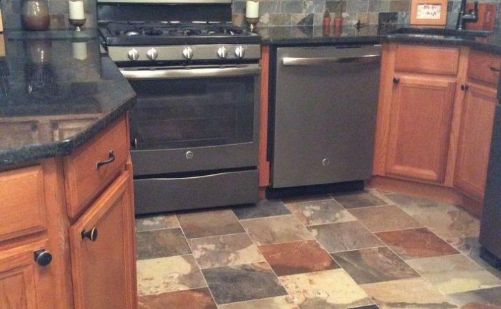 Porcelain Slate Tile Kitchen Appliances