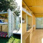 Port Bach Globetrotting Shipping Container Micro Home Wheels