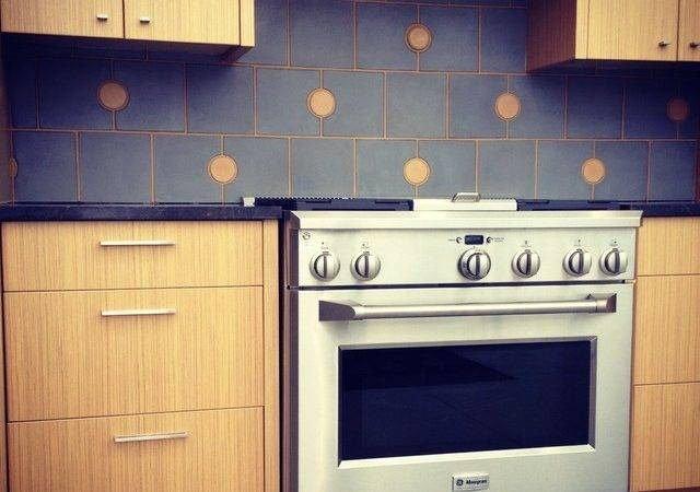 Portland Cement Concrete Tile Backsplash Modern