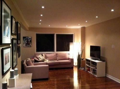 Pot Lights Living Room Idea Placement