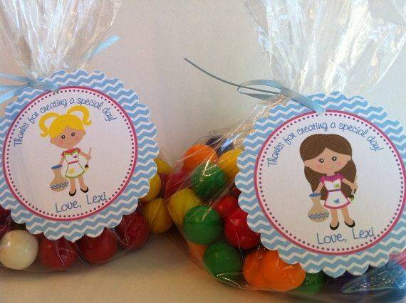 Pottery Painting Girl Party Favor Bags Etsy