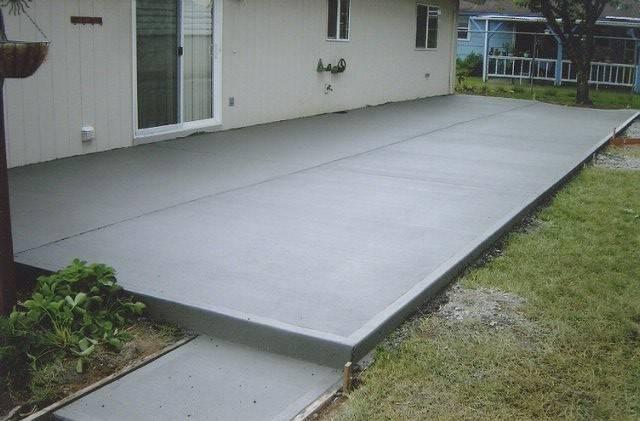 Poured Concrete Patio Ideas Pouring Pad Design