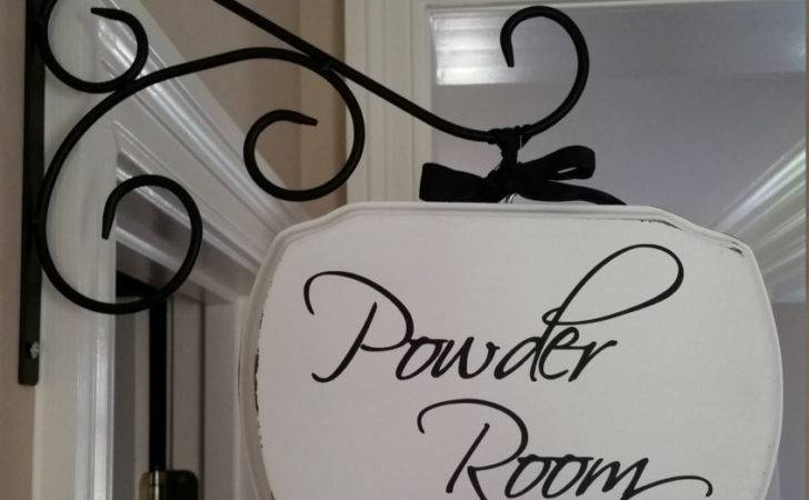 Powder Room Laundry Pantry Guest Plaque