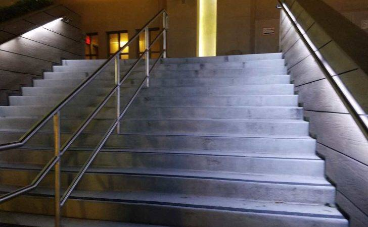 Powerful Led Strip Light Installed Under Handrail Bridge