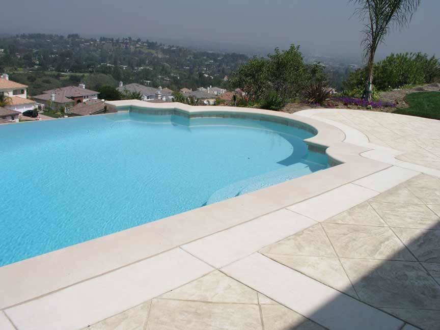 Precast Concrete Radius Sandstone Pool Coping Cast