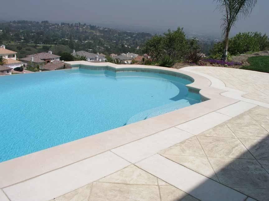 Precast Concrete Radius Sandstone Pool Coping Cast