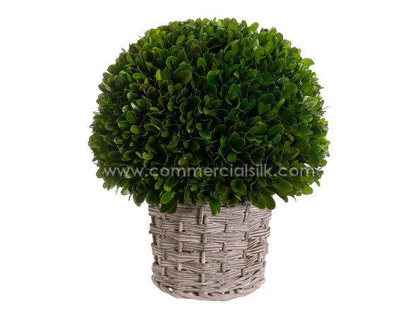 Preserved Boxwood Balls Artificial Foliage Silk