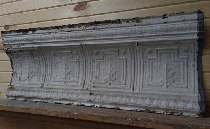 Pressed Tin Panel Antique Crown Molding