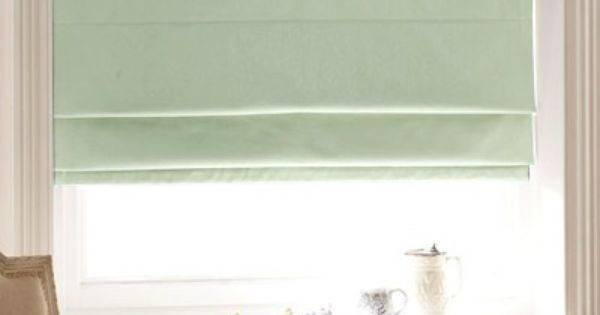 Pretty Aqua Roman Blind Perfect Nautical Decor Blinds