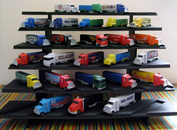 Price Reduced Pez Truck Display Shelf Stadium Style Holds