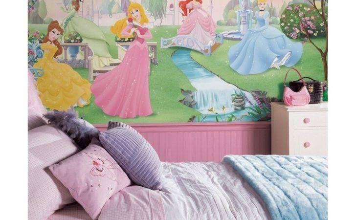 Princesses Wall Mural Princess Decorations Girls Bedroom Decor Ebay