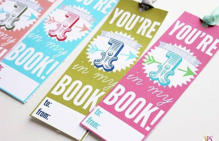 Printable Valentine Bookmarks Day Link Party
