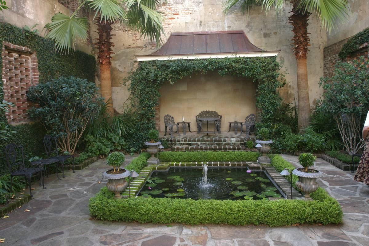 Private Courtyard Charleston South Carolina Fine Gardening