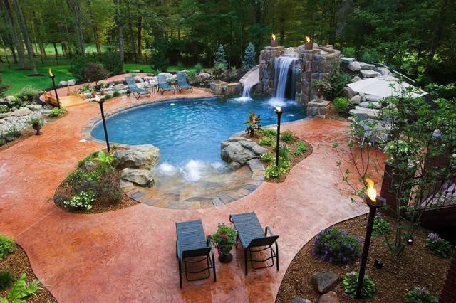Private Estate Tropical Pool Cincinnati Shehan Pools