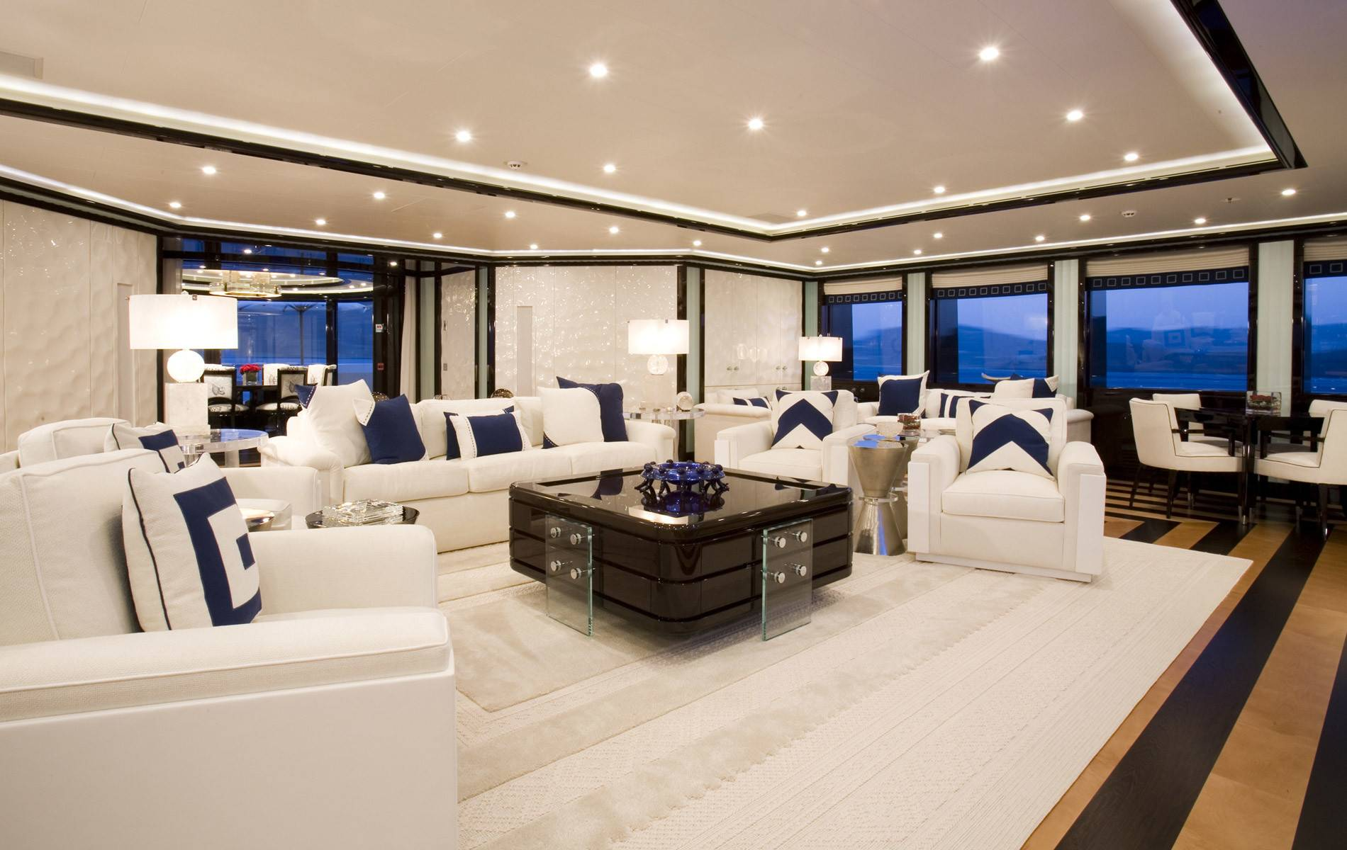 Private Yacht Interior Alfa Nero Charter Price