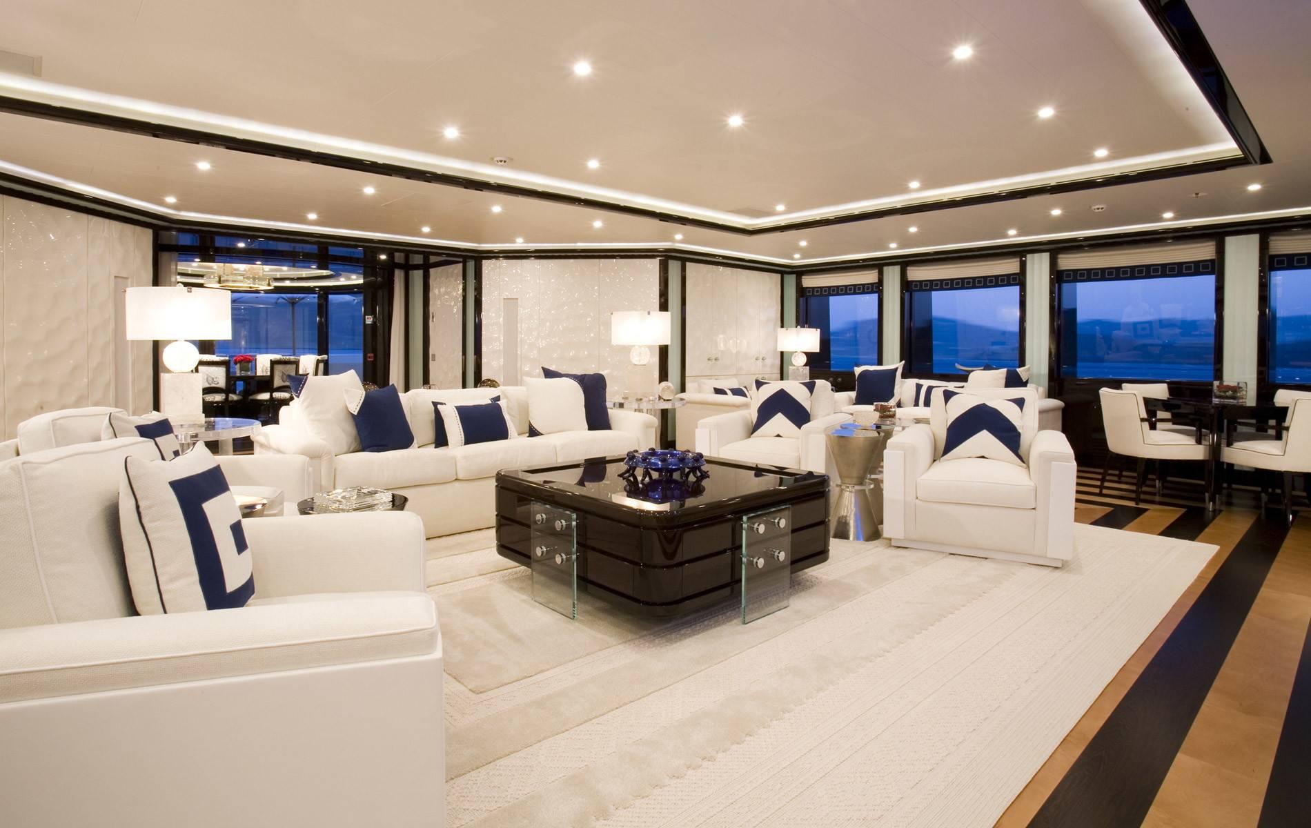 Private Yacht Interior Alfa Nero Charter Price