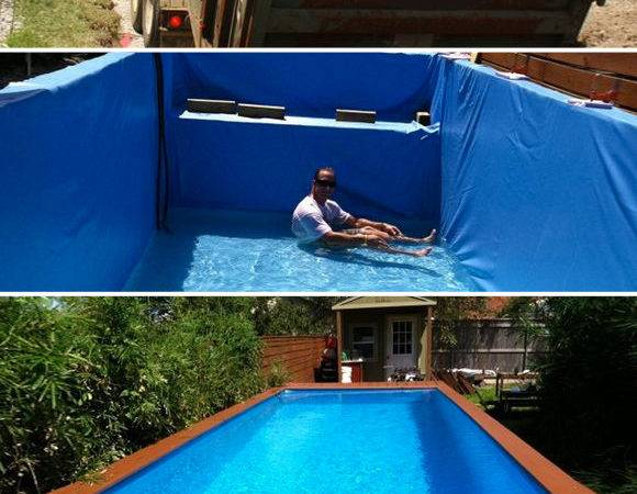 Projects Dumpster Pool Diy Above Ground Swimming