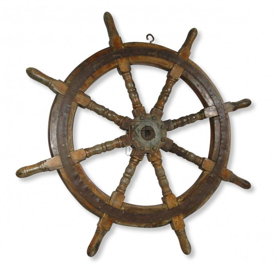 Prop Hire All Sea Large Wooden Ships Wheel Keeley