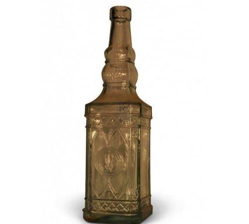 Prop Hire Bottles Glass Stoneware Fancy Square Bottle