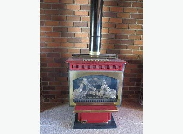 Propane Standing Fireplace North Saanich Sidney Victoria