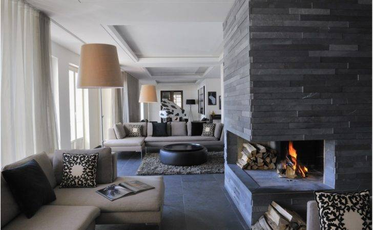 Pros Cons Modern Stone Fireplace Design Ideas
