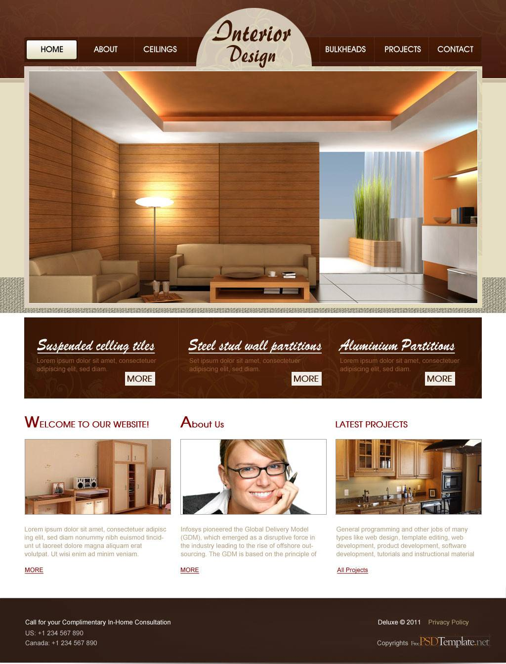 Psd Templates Web