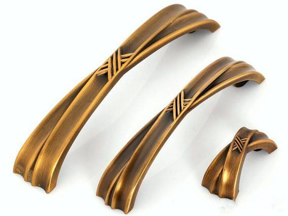 Pulls Drawer Pull Handles Antique Gold Bronze Cabinet
