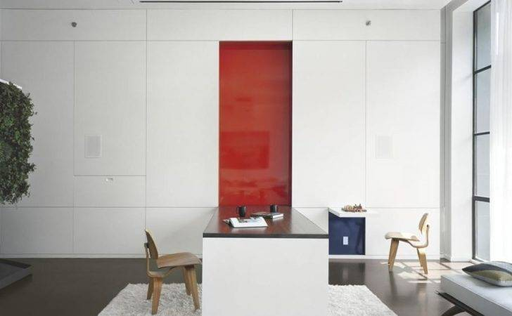 Pulltab Design High Gloss White Office Featured Red Pannel