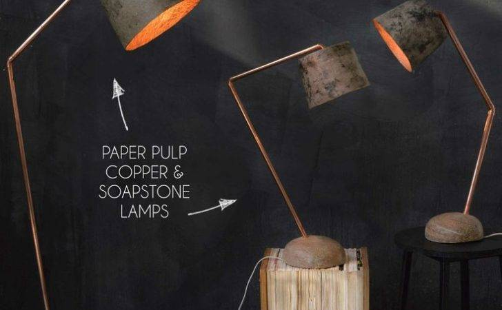 Pulp Copper Soapstone Light Quazi Design Handmade
