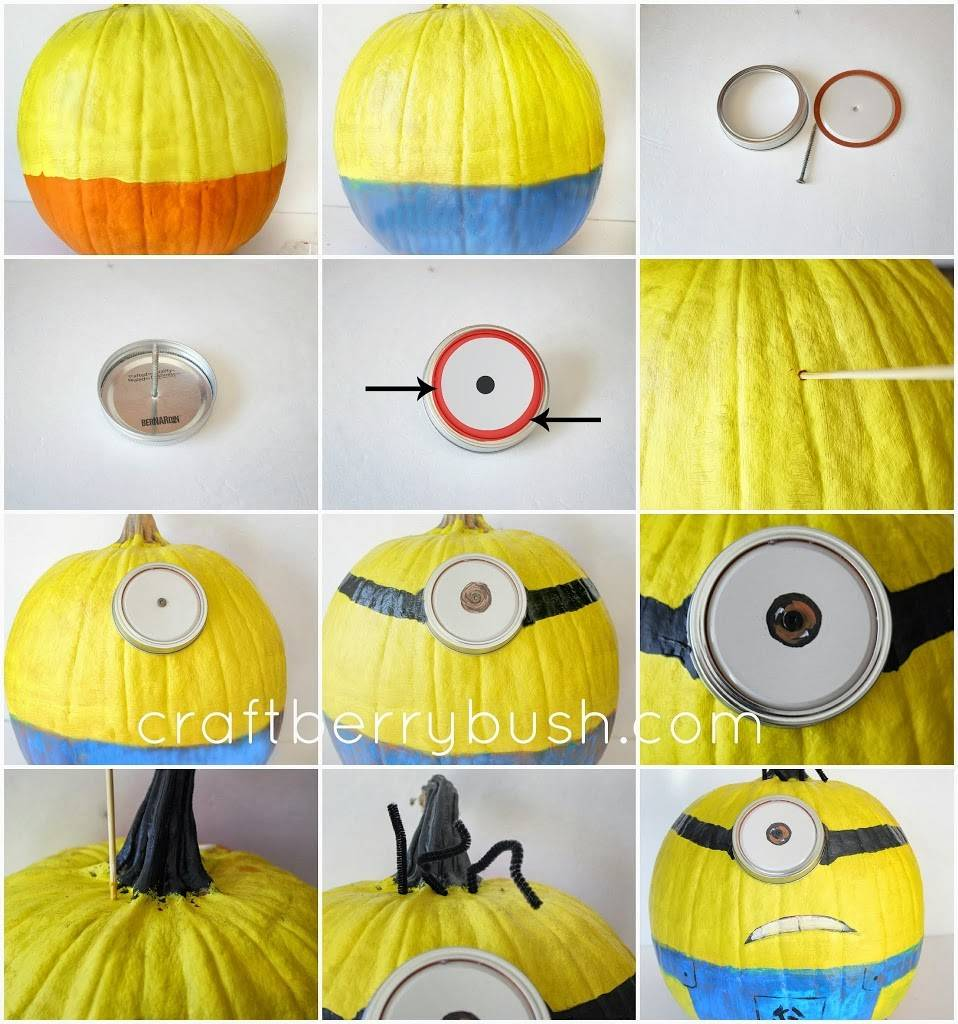 Pumpkin Painting Minion Tutorial
